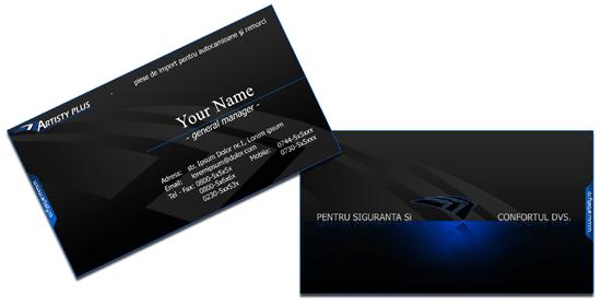 Thiết kế card visit màu đen.