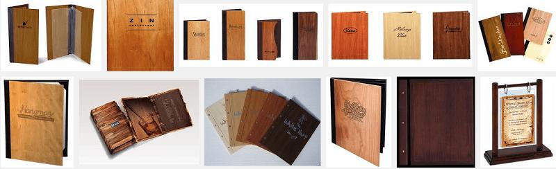 Thiết kế - in menu gỗ.