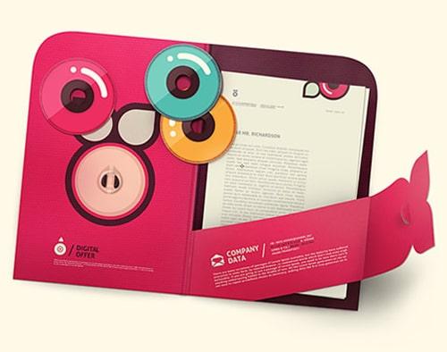 Thiết kế folder trẻ trung