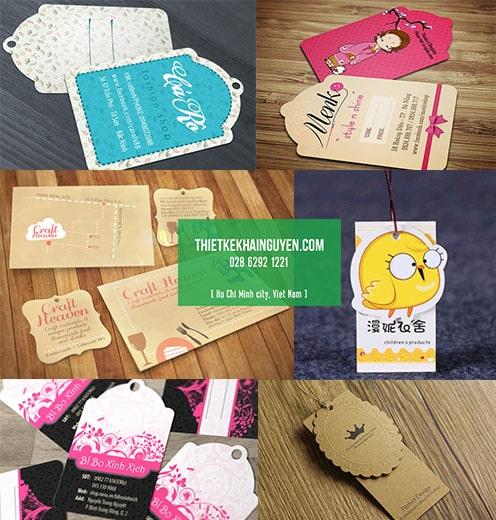 Bộ thẻ treo bế hình cực xinh - in tag treo tại tphcm