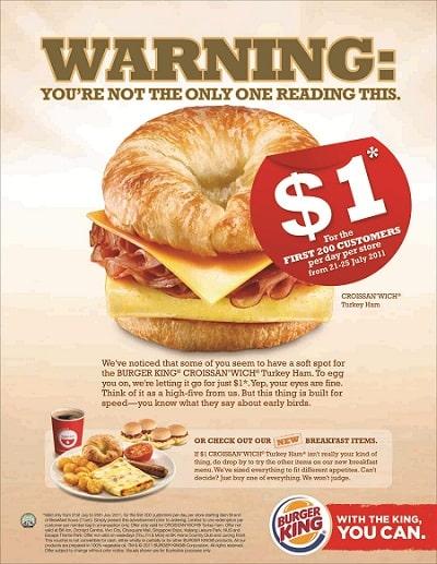 mẫu thiết kế voucher của burger king