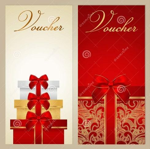 Mẫu thiết kế voucher quà tặng