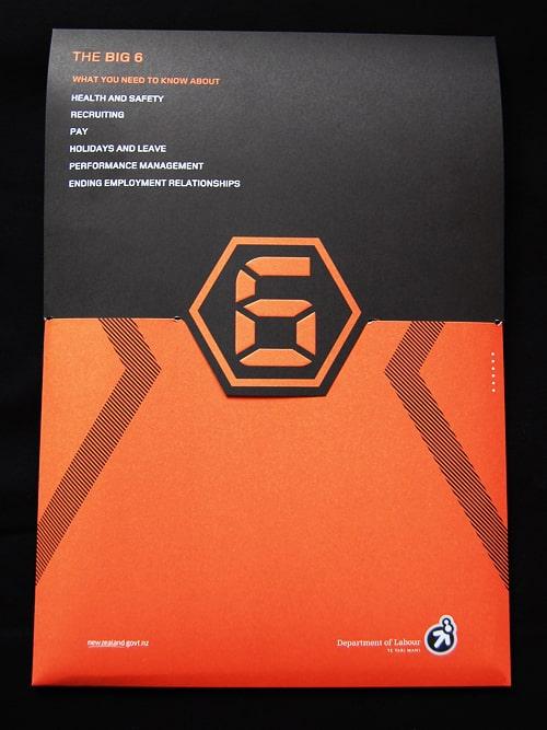 Thiết kế folder đen cam