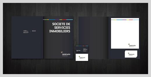 mẫu thiết kế Folder chuẩn màu đen