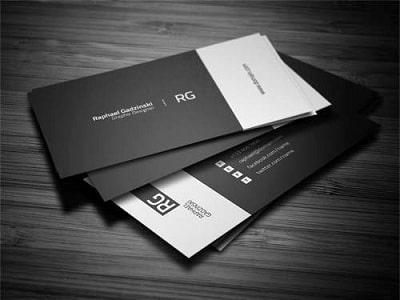 Mẫu thiết kế name card trắng đen thuộc thủy và kim