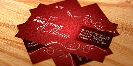 Thiết kế card visit mệnh hỏa sử dụng màu đỏ