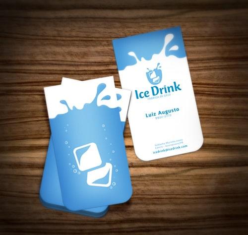 Thiết kế card visit mệnh thủy bo góc