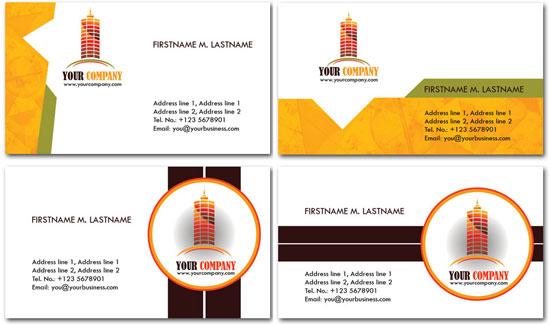 Thiết kế card visit trong lĩnh vực xây dựng