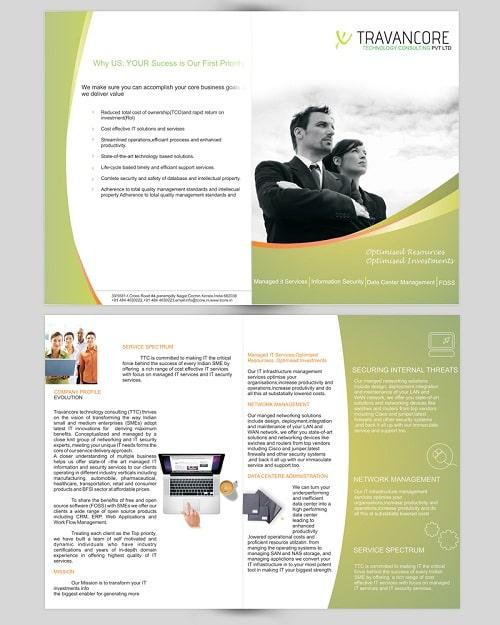 Mẫu brochure dịch vụ tư vấn đầu tư