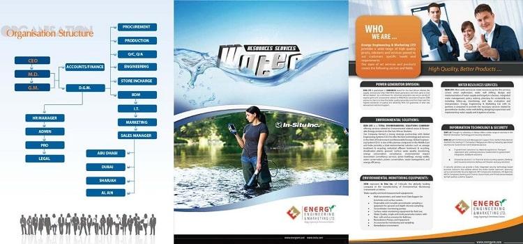 Brochure ngành dịch vụ gấp ba