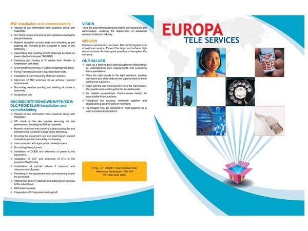 Mẫu brochure dịch vụ viễn thông tin học
