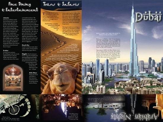 mẫu in brochure dự án lớn tại Dubai