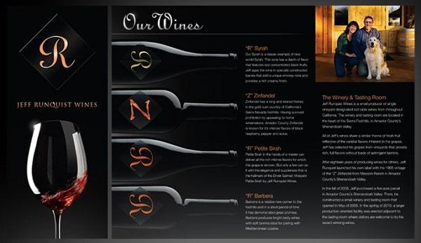 Mẫu in brochure rượu màu đen