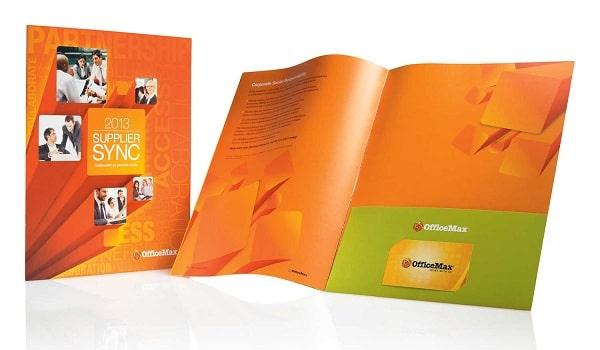 Mẫu brochure folder cơ bản