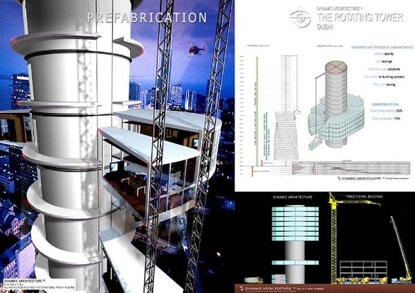 Mẫu thiết kế brochure dự án xây dựng tháp xoay