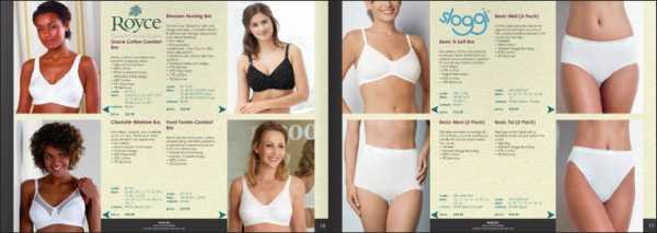 Mẫu thiết kế brochure underwear dùng tông trắng