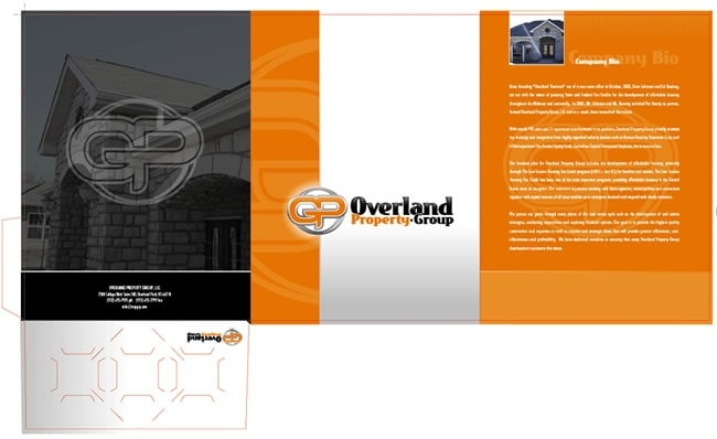 Mẫu thiết kế brochure folder gấp ba