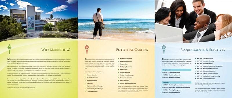 thiết kế brochure ngành dịch vụ
