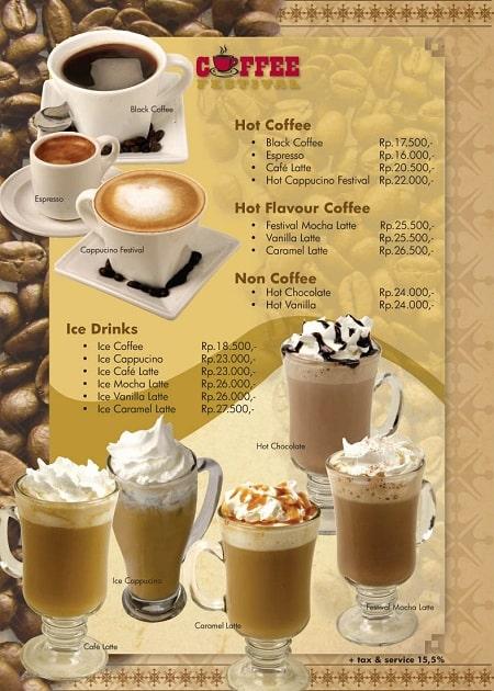Mẫu menu nhựa cho quán cafe