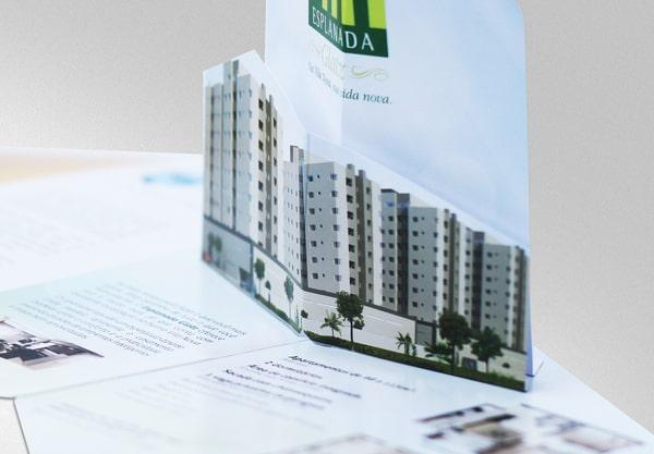Thiết kế brochure popup ngành bất đống sản