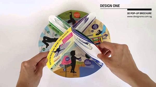 Mẫu brochure popup