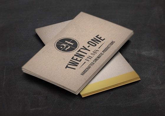 Thiết kế card visit trên giấy kraft
