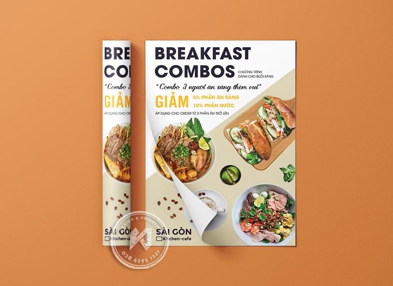 Một số mẫu thiết kế leaflet cho nhà hàng
