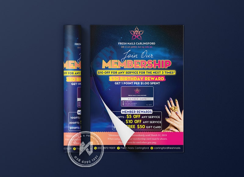 Mẫu flyer design cho fresh Nail Spa