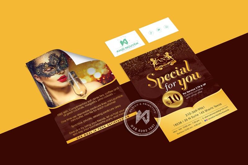 Thiết kế in ấn tờ rơi Spa Beauty