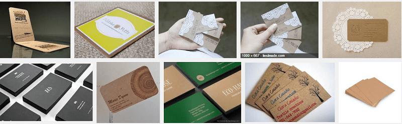Bộ sản phẩm in trên giấy kraft – giấy tái chế