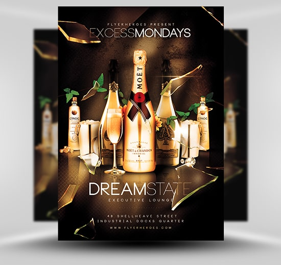 Mẫu in flyer brochure rượu
