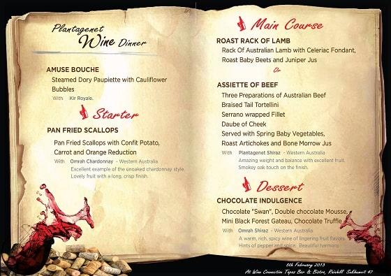 Mẫu giấy chất liệu in menu rượu