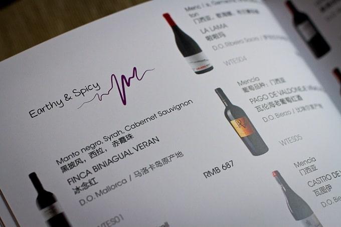 Mẫu thiết kế và thành phẩm in wine list