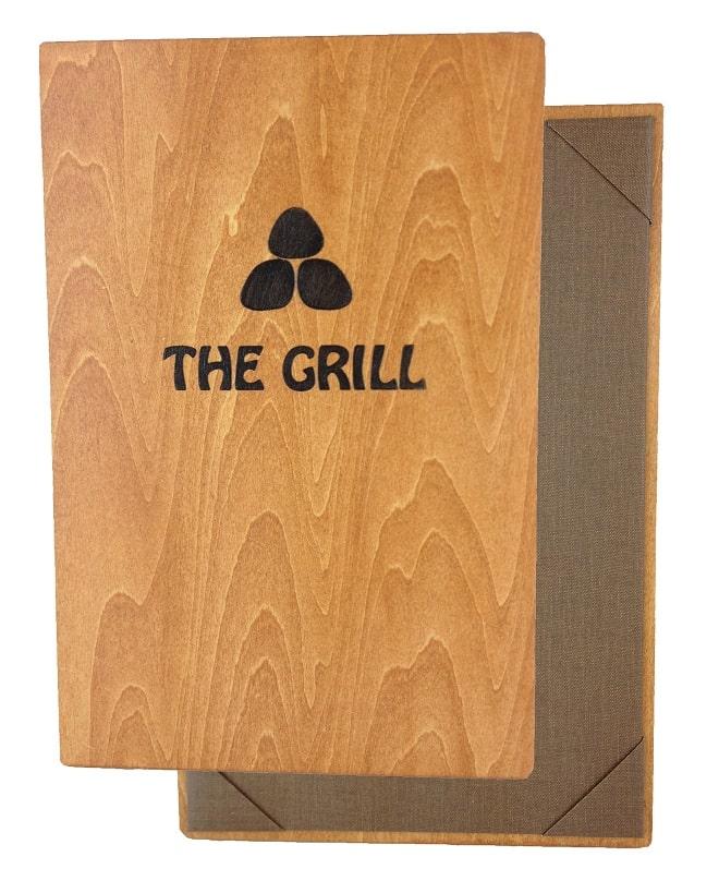 Mẫu thiết kế wood menu đơn giản