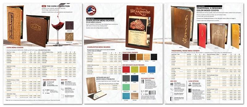 Bìa menu gỗ nhà hàng