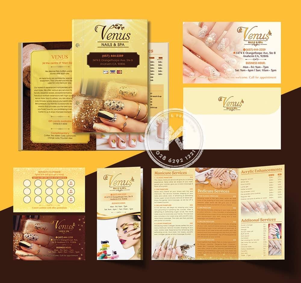 Venus Nails & Spa Branding Design