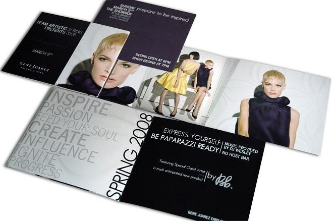 Mẫu brochure gấp đôi trắng đen