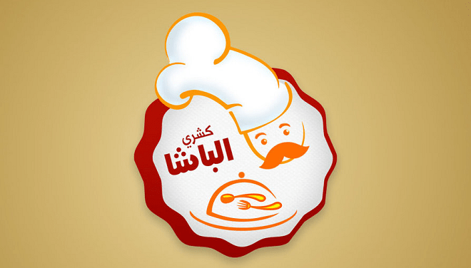 Mẫu thiết kế logo nhà hàng hình ông đầu bếp