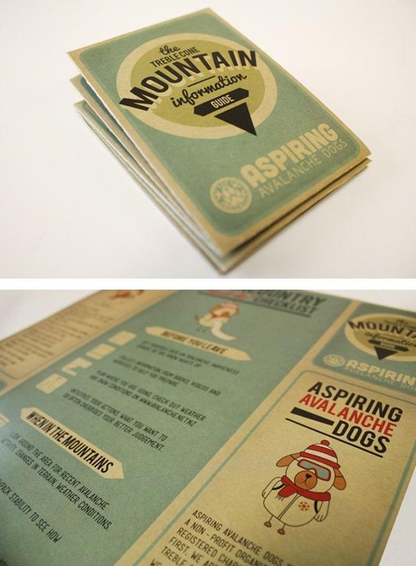 In trải màu trên mẫu thiết kế brochure giấy kraft