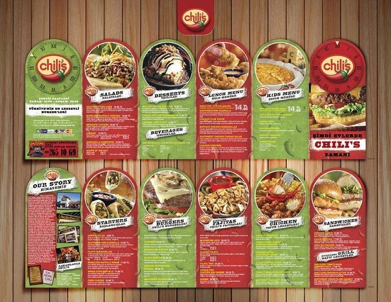 Mẫu thiết kế brochures ẩm thực