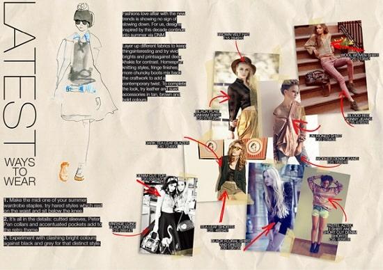 Thiết kế brochure thời trang sáng tạo.