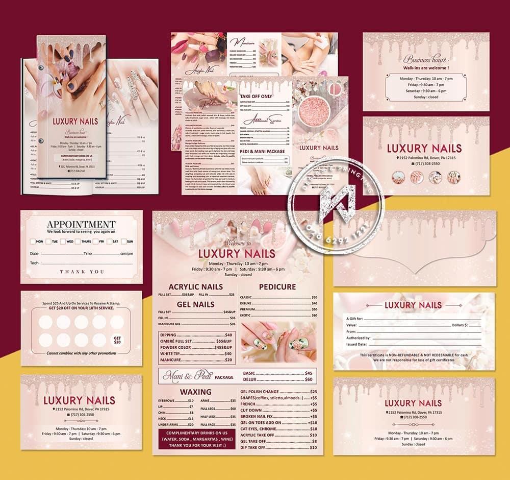 Luxury Nails Branding - Bộ nhận diện thiết kế in ấn cho Nail