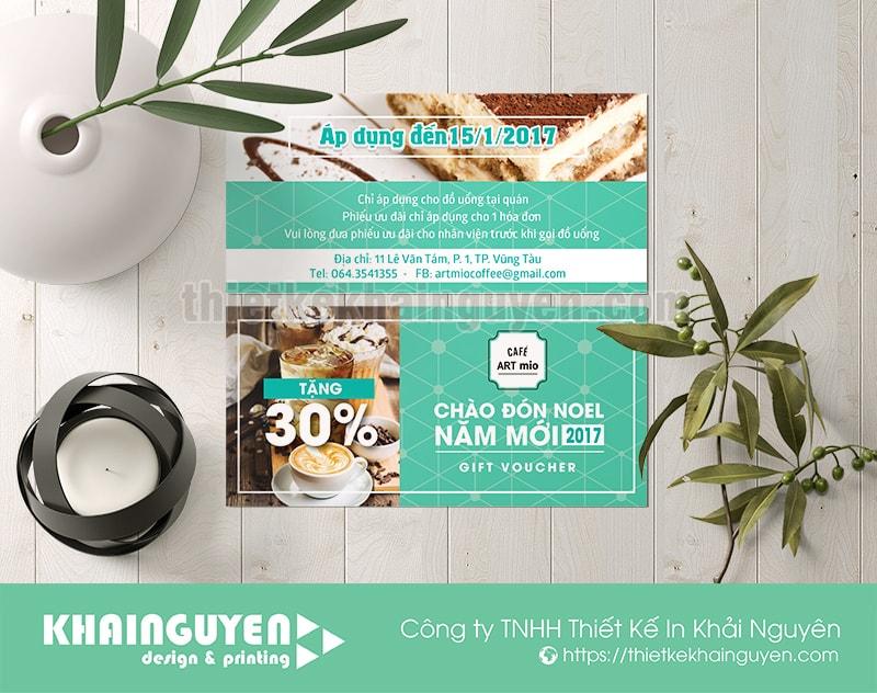 Thông tin cần có trên voucher - Voucher cafe Art Mio tại Vũng Tàu