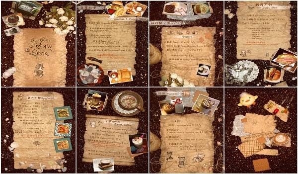 biến tấu trong menu phong cách vintage