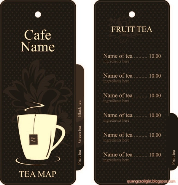 mẫu menu coffee đẹp
