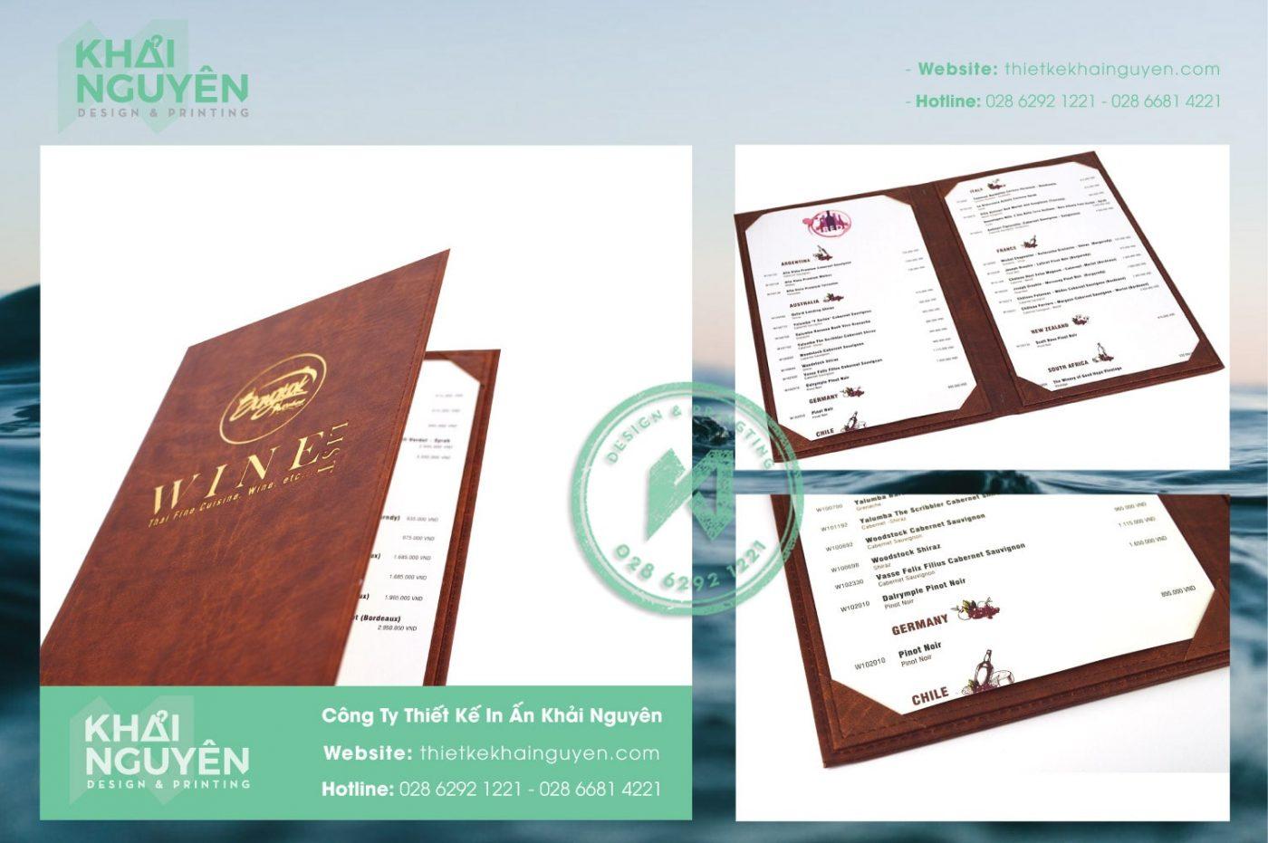 In menu da BangKOK Winelist