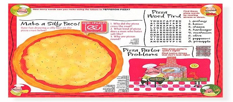 menu món ăn trẻ em