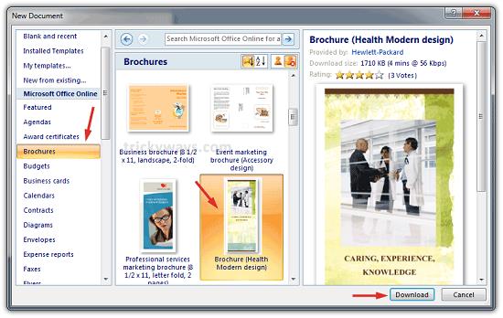Thiết kế brochure bằng ms word