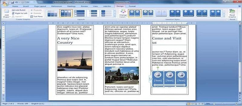 Thiết kế brochures bằng word 2007