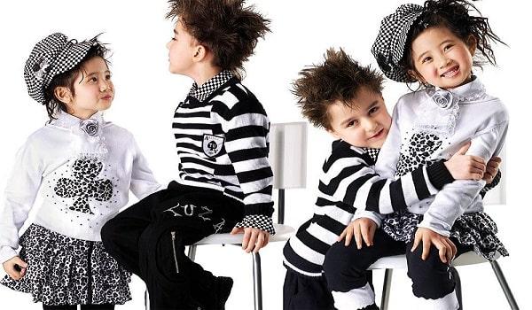 thiết kế dễ thương trong catalogue quần áo trẻ em